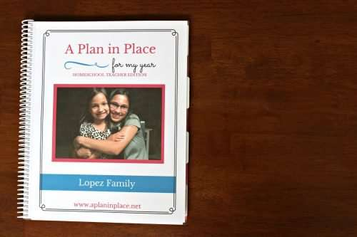 homeschool mom planner A Plan in Place