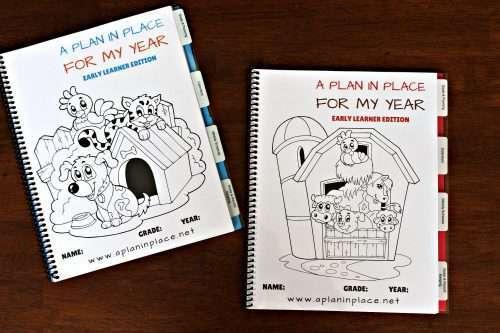 homeschool planner kindergartener