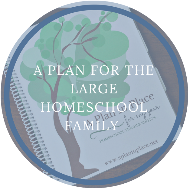 large family homeschool organizer