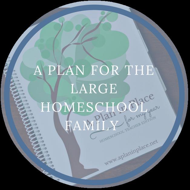 large family homeschool organizer