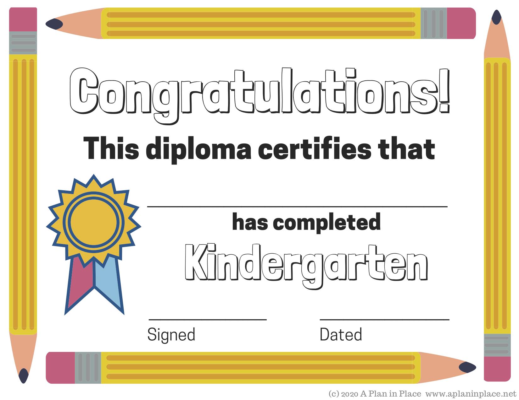 It's just an image of Printable Home School Diploma inside kindergarten